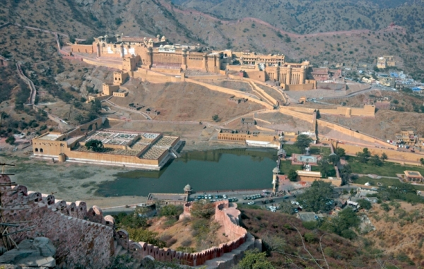 Ariel view of Amer Fort