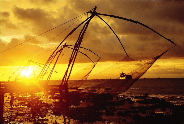 Chiese Fishing Nets in Kochi