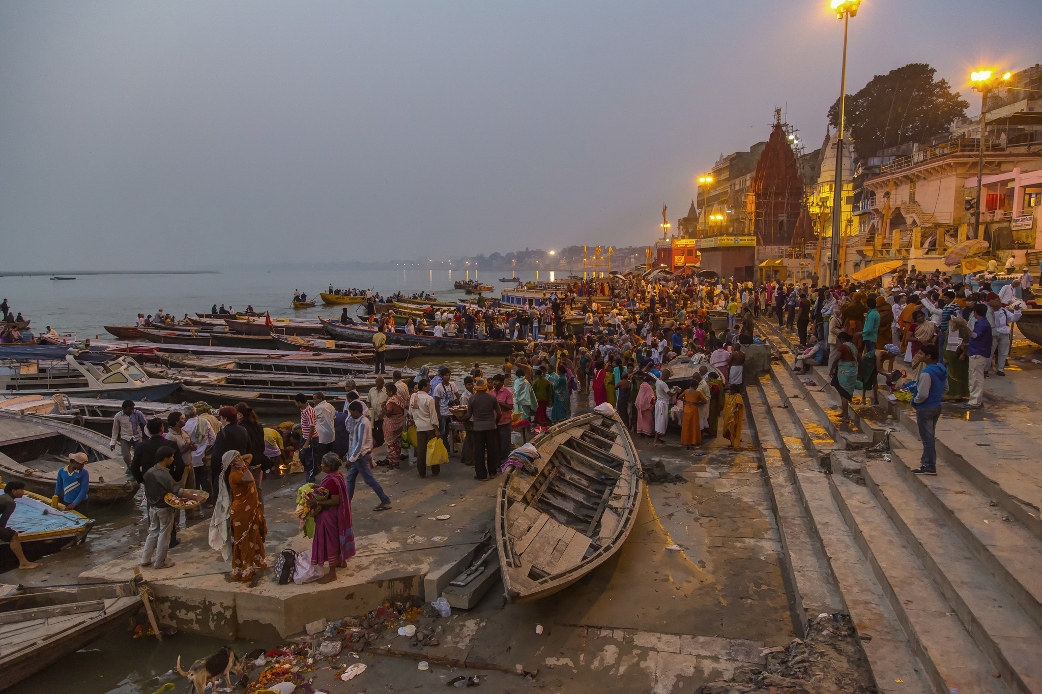 Early morning at the Dashashwamedh Ghat