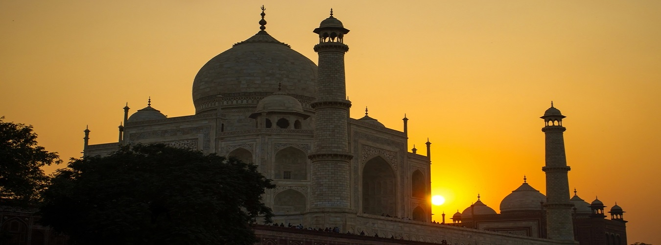 Taj by sunset